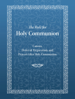 Rule for Holy Communion