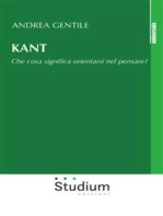 Kant: Che cosa significa orientarsi nel pensare?