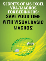 Secrets of MS Excel VBA Macros for Beginners !