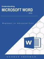Understanding Microsoft Word 2016