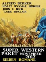 Super Western Paket November 2017 – Sieben Romane