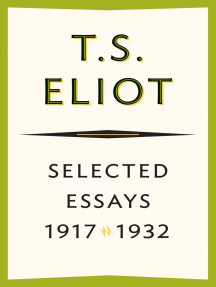 ts eliot selected essays free