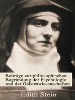 Beiträge zur philosophischen Begründung der Psychologie und der Geisteswissenschaften