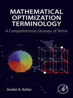 Mathematical Optimization Terminology: A Comprehensive Glossary of Terms