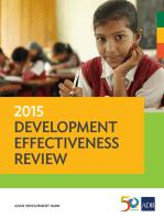 2015 Development Effectiveness Review