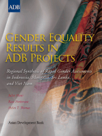 Gender Equality Results in ADB Projects