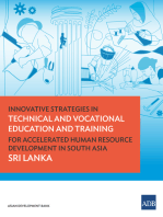 Innovative Strategies in Technical and Vocational Education and Training for Accelerated Human Resource Development in South Asia: Sri Lanka