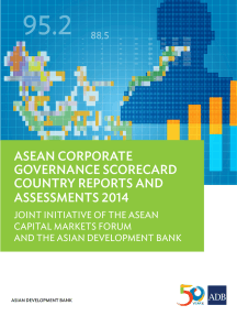 ASEAN Corporate Governance Scorecard Country Reports and Assessments 2014: Joint Initiative of the ASEAN Capital Markets Forum and the Asian Development Bank