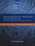 Strengthening the Ombudsman Institution in Asia: Improving Accountability in Public Service Delivery through the Ombudsman