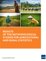 Results of the Methodological Studies for Agricultural and Rural Statistics