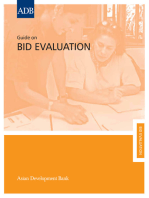 Guide on Bid Evaluation