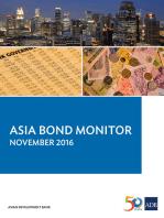 Asia Bond Monitor: November 2016