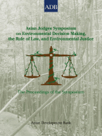 Asian Judges Symposium on Environmental Decision Making, the Rule of Law, and Environmental Justice
