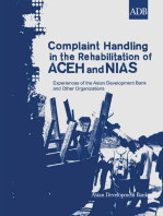 Complaint Handling in the Rehabilitation of Aceh and Nias: Experiences of the Asian Development Bank and Other Organizations