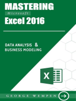 Mastering Microsoft Excel 2016