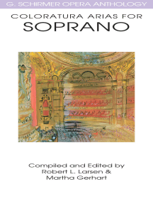 Coloratura Arias for Soprano: G. Schirmer Opera Anthology