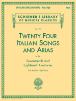 24 Italian Songs & Arias - Medium High Voice (Book only): Medium High Voice