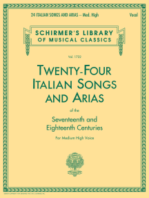 24 Italian Songs & Arias of the 17th & 18th Centuries: Schirmer Library of Classics Volume 1722 Medium High Voice Book Only