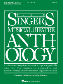 Singer's Musical Theatre Anthology - Volume 4: Tenor Book Only