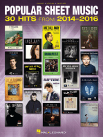 Popular Sheet Music: 30 Hits from 2014-2016