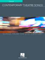 Contemporary Theatre Songs - Tenor: Songs from the 21st Century