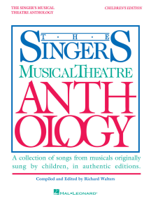 Singer's Musical Theatre Anthology - Children's Edition: Book Only
