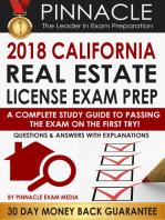 2018 CALIFORNIA Real Estate License Exam Prep