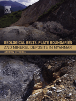 Geological Belts, Plate Boundaries, and Mineral Deposits in Myanmar