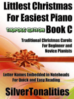 Littlest Christmas for Easiest Piano Book C Tadpole Edition