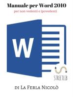 Manuale Word 2010, per non vedenti e ipovedenti
