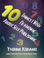 10 Things I Wish I'd Known About Self Publishing