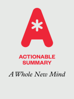 Actionable Summary of A Whole New Mind by Daniel Pink