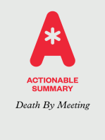 Actionable Summary of Death by Meeting by Patrick Lencioni
