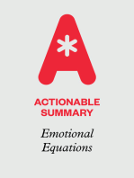 Actionable Summary of Emotional Equations by Chip Conley