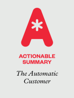 Actionable Summary of The Automatic Customer by John Warrillow