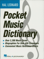 The Hal Leonard Pocket Music Dictionary (Music Instruction)