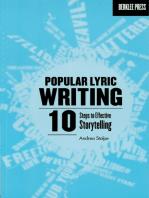 Popular Lyric Writing