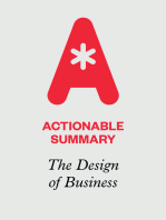 Actionable Summary of The Design of Business by Roger Martin