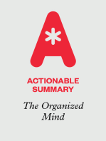 Actionable Summary of The Organized Mind by Daniel J. Levitin