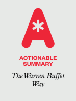 Actionable Summary of The Warren Buffet Way by Robert Hagstrom