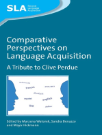 Comparative Perspectives on Language Acquisition