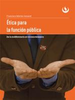 Ética para la función pública: De la indiferencia al reconocimiento