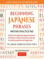 Japanese Phrases Language Practice Pad
