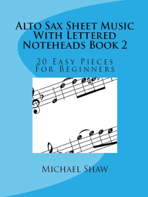 Alto Sax Sheet Music With Lettered Noteheads Book 2