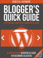 Blogger's Quick Guide to Starting Your First WordPress Blog