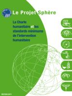 La charte humanitaire et les standards minimums de l'intervention humanitaires