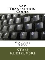 SAP Transaction Codes – Volume Two
