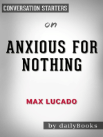 Anxious for Nothing by Max Lucado   Conversation Starters