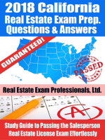 2018 California Real Estate Exam Prep Questions, Answers & Explanations