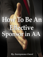 How To Be An Effective Sponsor In Recovery With Alcoholics Anonymous